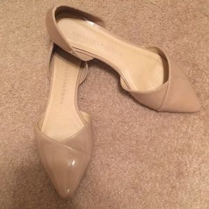 Nude two piece flats
